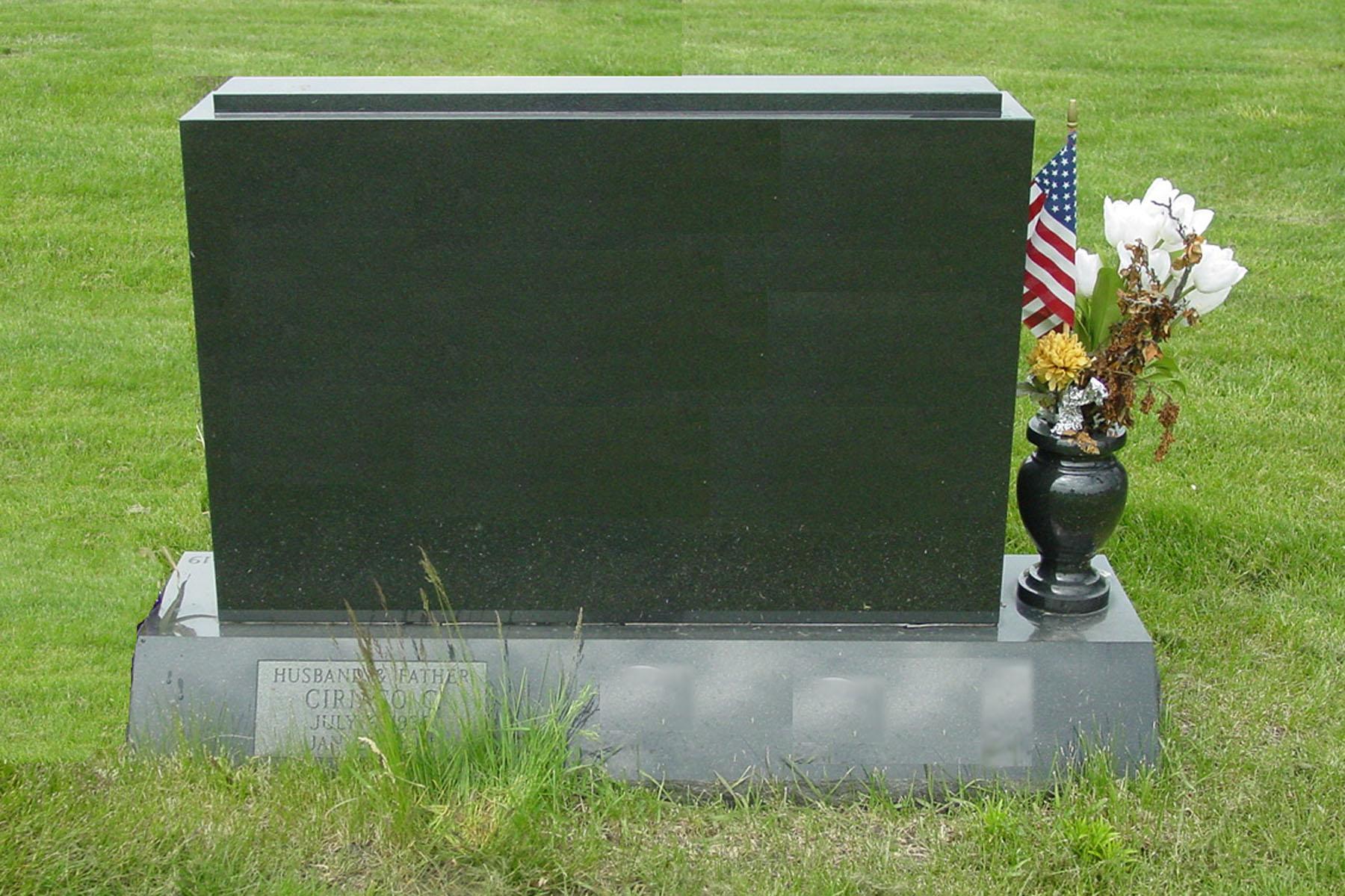 Chicago Headstone Example